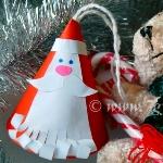 Ёлочная игрушка дед Мороз из бумаги (конус) своими руками