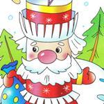 Объемные елочные игрушки из бумаги дед Мороз и Снегурочка с шаблонами для печати