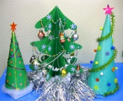 Детские новогодние поделки из бумаги