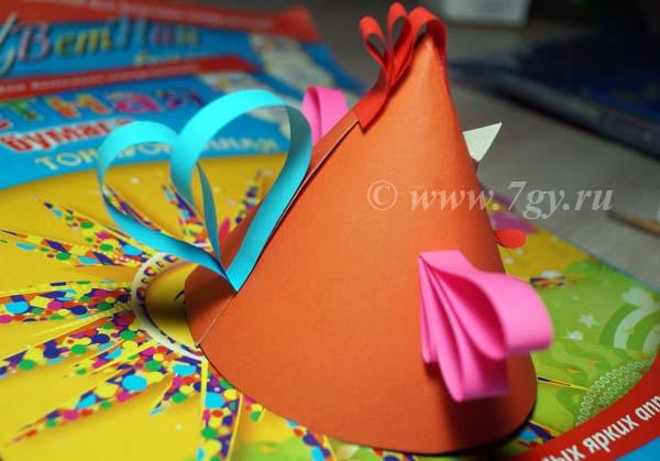 Петушок из цветной бумаги