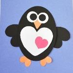 Аппликация пингвин из цветной бумаги