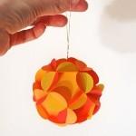 Бумажные шары на ёлку по шаблону