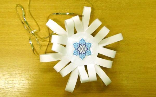 Снежинки из бумаги для детей