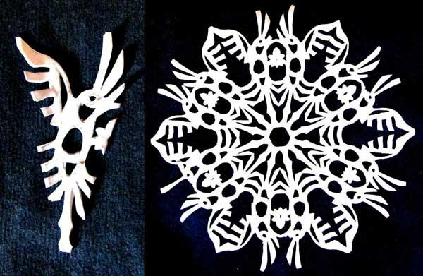 Сделать ажурные снежинки из бумаги своими руками