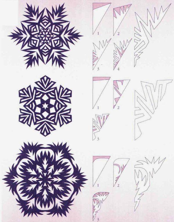 Схемы красивых снежинок из бумаги