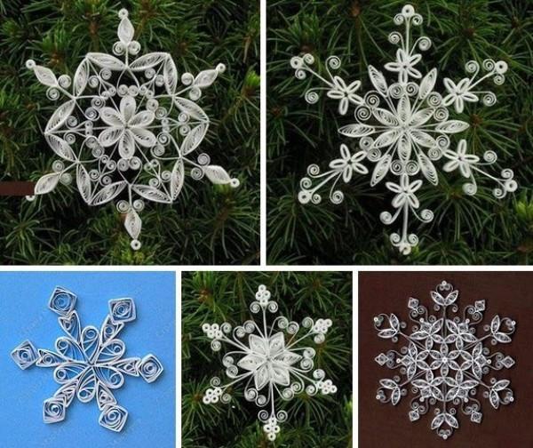 Новогодние поделки снежинки