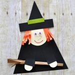 Объемная аппликация Ведьмочка на Хэллоуин