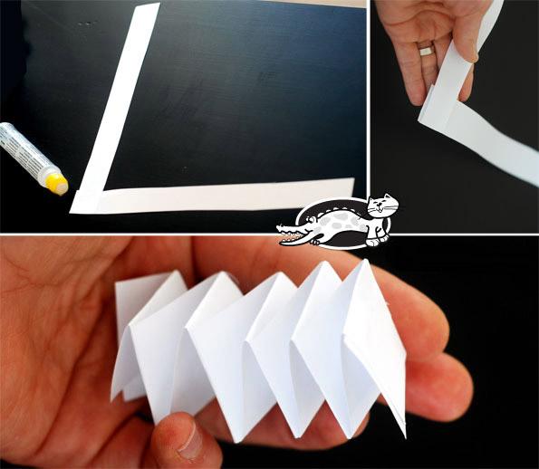 Бумажная свечка своими руками