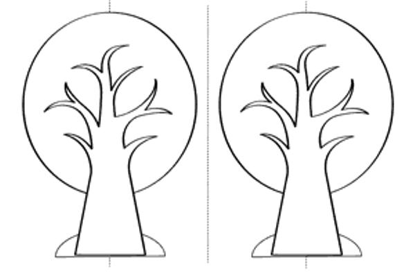 """Дерево """"Времена года"""" из бумаги"""