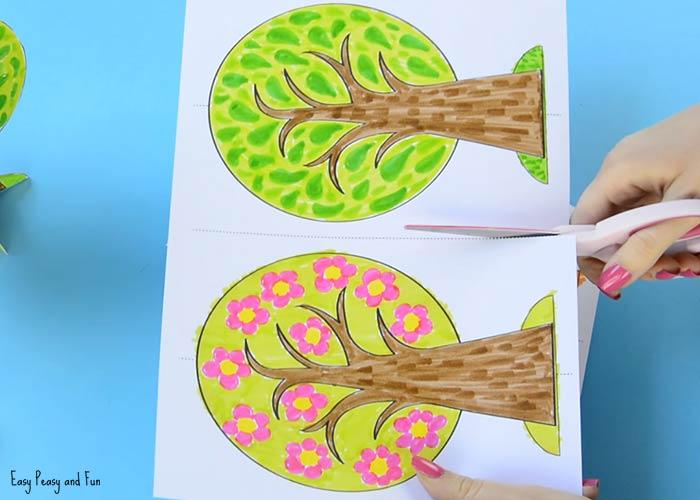 Дерево Времена года из бумаги
