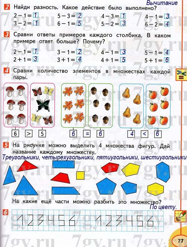 Решебник по математике 1 класс перспектива 3 часть