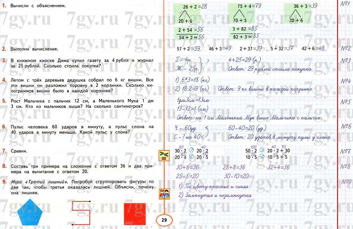 Математика в вопросах и заданиях 1 класс тетрадь самостоятельной.