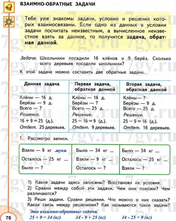 Разбор ответов и пояснения к заданиям учебника