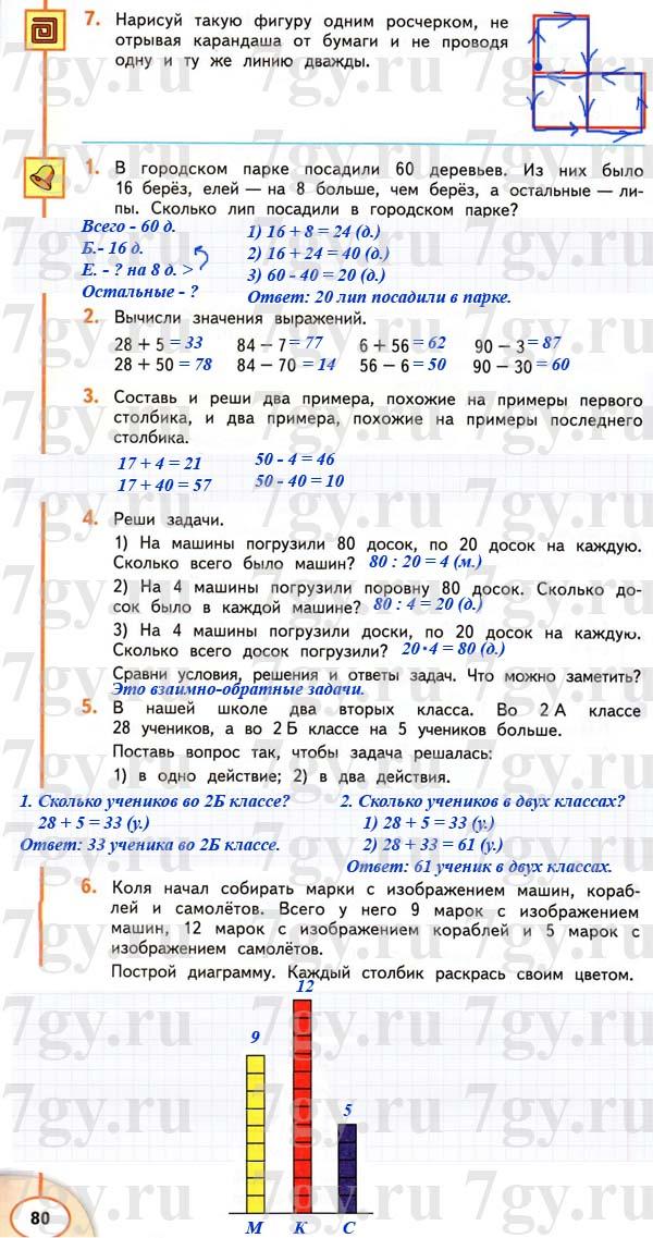 По мираков дорофеев математике 2 гдз класс