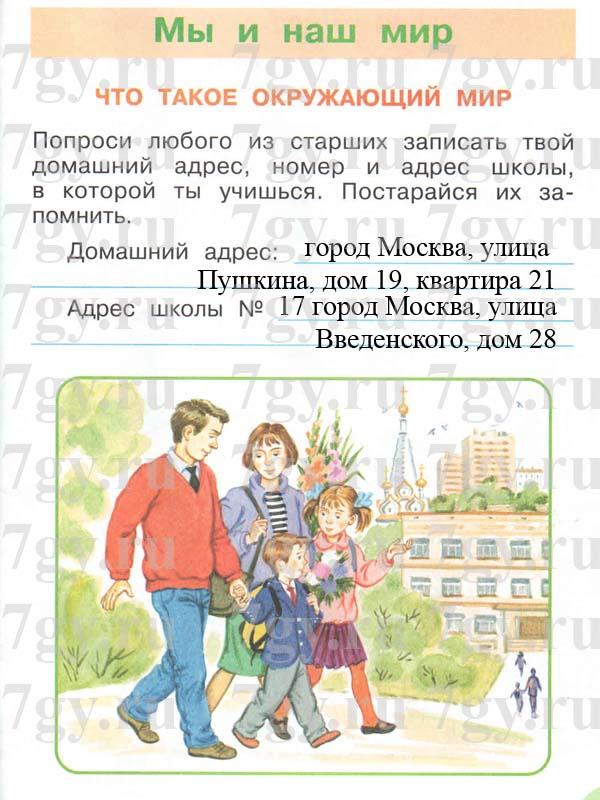 Учебник-решебник окружающий мир плешаков новицкая 1 класс