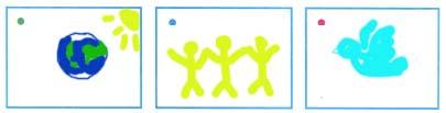 Придумай знаки для каждого значения слова мир. Нарисуй эти знаки в соответствующие рамки