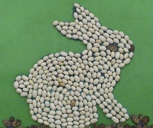 Поделки из круп и семян для детей