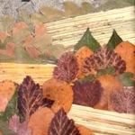 Пейзажи из сухих листьев
