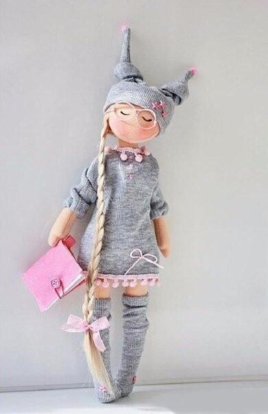 Кукла Элли с выкойкой (по мотивам иллюстраций Сьюзен Вулкотт)