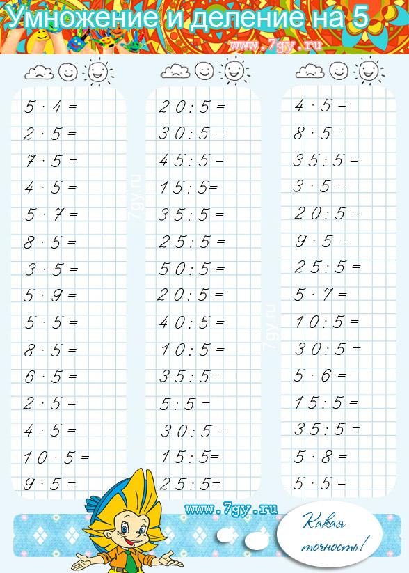 Математические примеры 2 класс распечатать