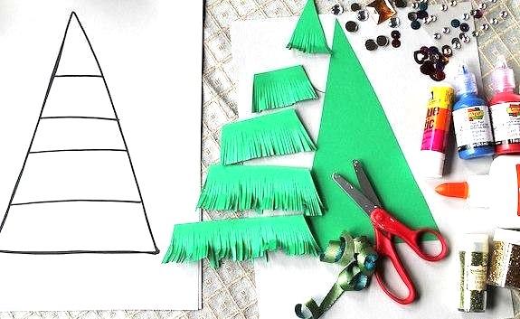 Детские новогодние поделки из бумаги (для детского сада и младших школьников)