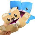 Игрушки-кусаки оригами: акула и медведь