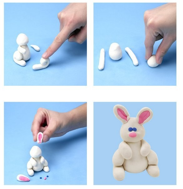 как сделать из теста зайца