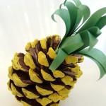 Поделка ананас из шишки