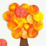 Осеннее деревце из ватных дисков