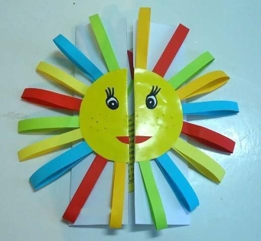 Открытка солнце своими руками