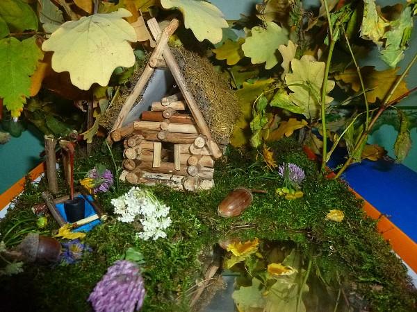 поделки сказочные домики из природного материала