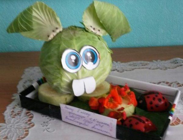 Смешарик Крош из капусты