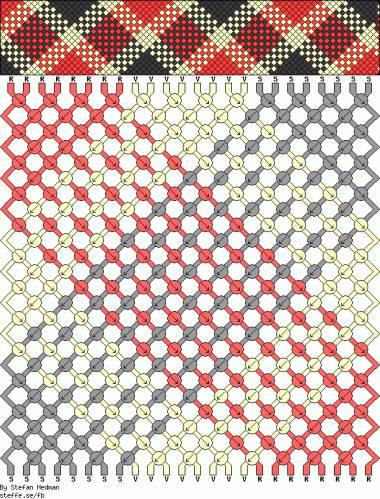 Схема фенечек из бисера