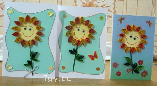 Цветы на 8 марта из бумаги в школе и детском саду