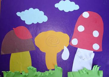 Аппликация грибы с шаблонами
