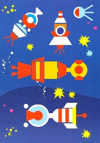Далекий космос (аппликация): фото.