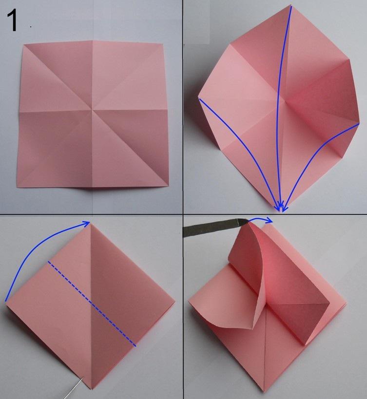 Оригами розы из бумаги своими руками фото