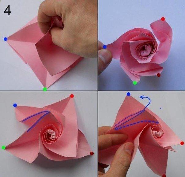 Как сделать розы из бумаги своими руками поэтапно фото для начинающих