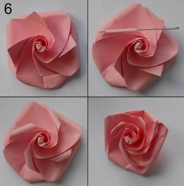 Оригами розы из бумаги своими руками пошаговое фото для начинающих