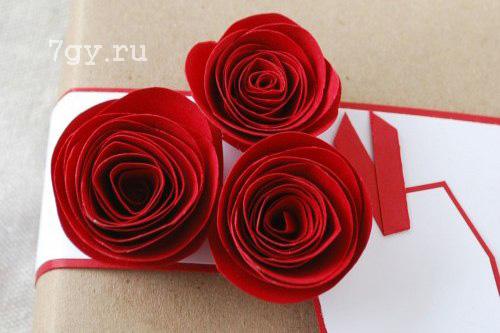 Розы из бумаги как настоящие