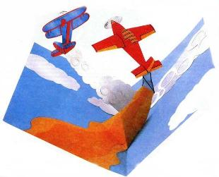 Открытка аппликация с самолетами