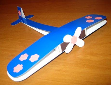 Пошаговый мастер-класс поделки самолет из цветного картона
