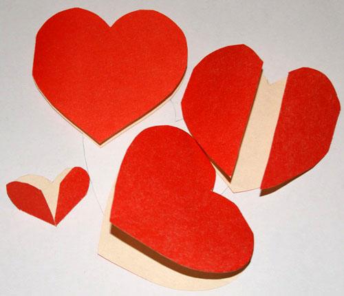 Открытки-валентинки из бумаги своими руками.