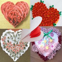 Открытки-валентинки из бумаги своими руками