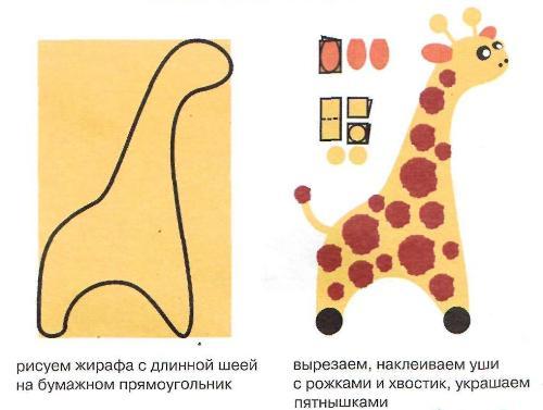 Аппликация жираф.