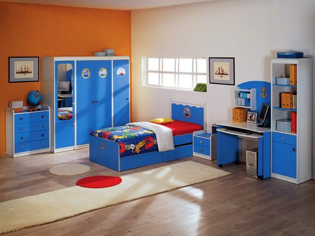 Дизайн детской комнаты для мальчика морской тематики