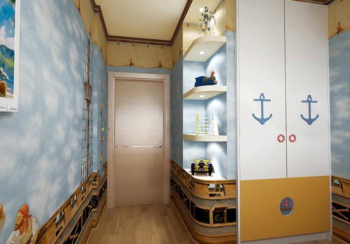 Дизайн детской комнаты для мальчика в пиратском стиле