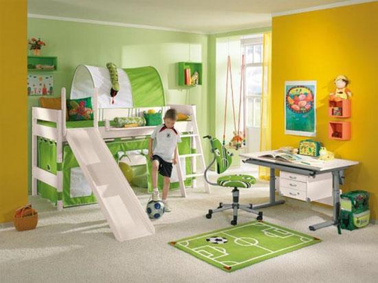 Дизайн комнаты для мальчика с спортивном стиле