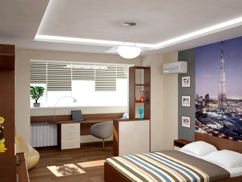 Дизайн спальни с балконом в квартире - фото вариантов.
