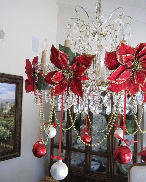 Новогоднее украшение на люстру своими руками